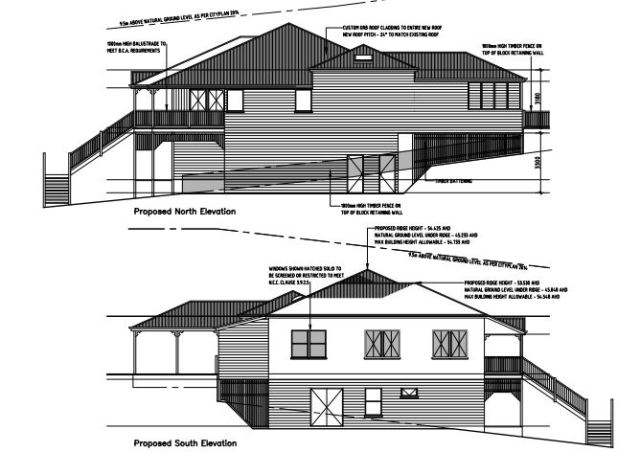 Queenslander renovation - side elevations