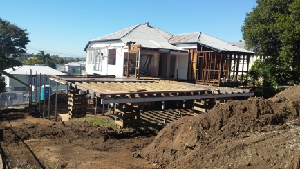 Queenslander renovation progress