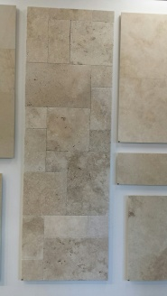 Almond travertine tiles for our Queenslander renovation