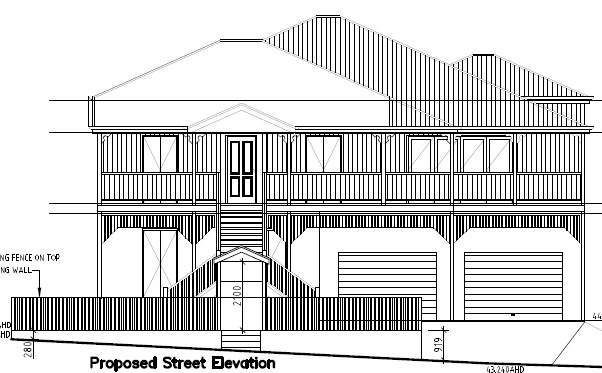 Queenslander renovation - updated entry / front fence plans