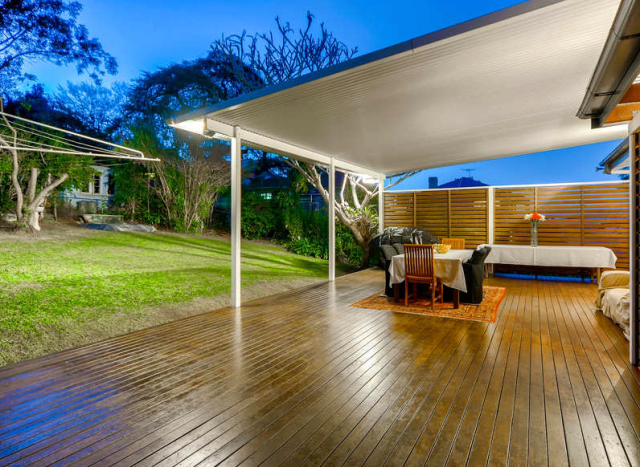Another shot of our Queenslander backyard, pre-renovation