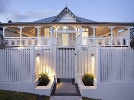 Lovely Queenslander front entry and fence