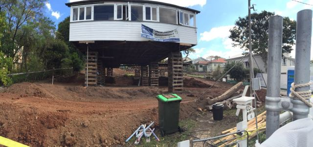 Queenslander renovation - excavation and site clearing