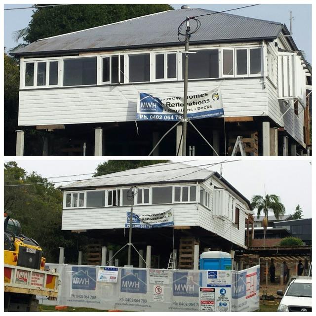 Queenslander renovation house raise