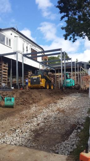 Steel going up - Queenslander renovation