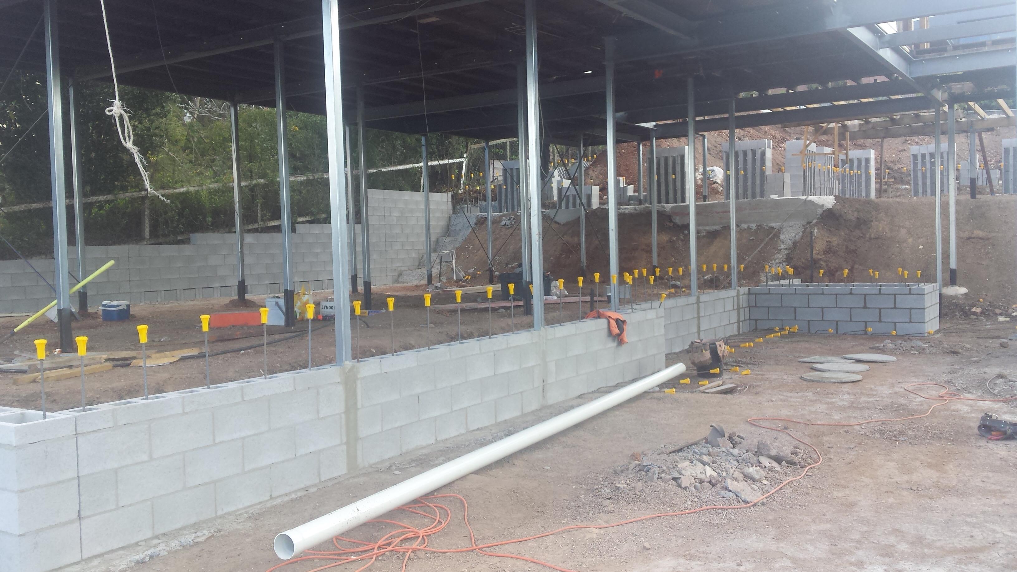 Queenslander renovation block walls