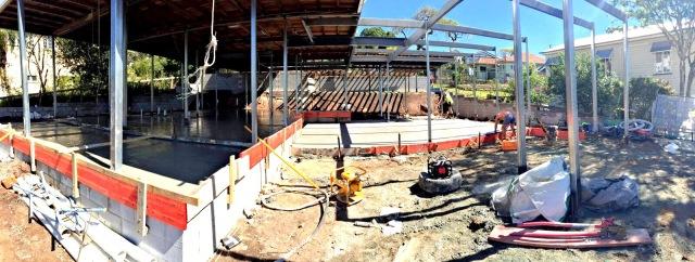 Foundations laid, slab down  - Queenlsander renovation