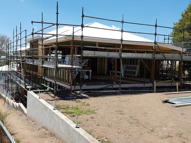 Queenslander with new rear roof - Brisbane renovation