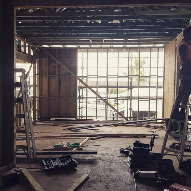 Kitchen starting to take shape - Queenslander renovation