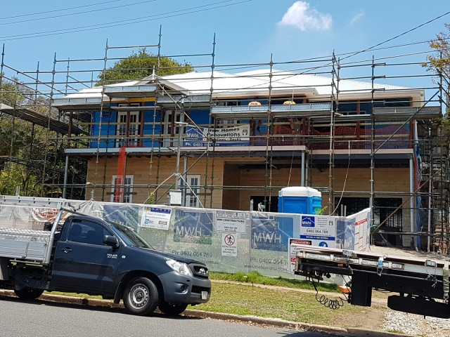 Big strides this week! Roof, doors, windows and half the external cladding! Queenslander renovation