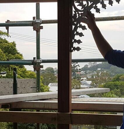 Cast aluminium lacework Queenslander verandah bracket