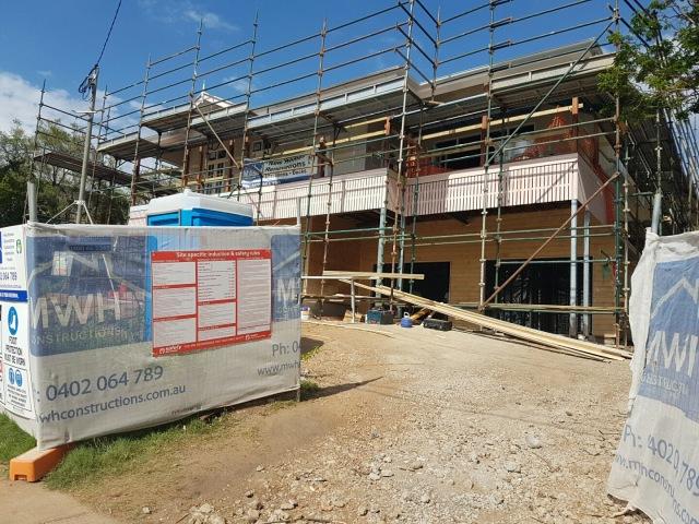 Front view - can't wait til those sweeps are cut! Queenslander renovation
