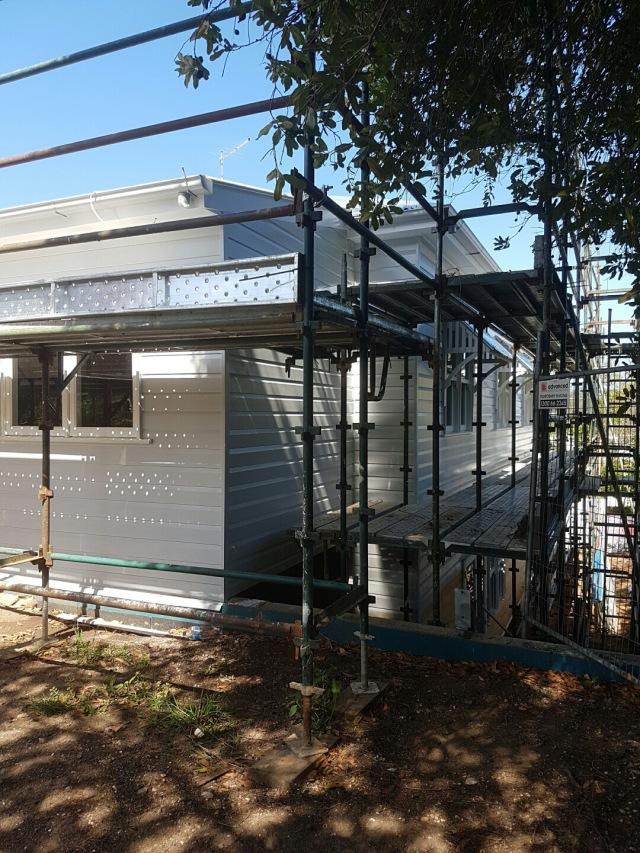 Pale grey Queenslander house