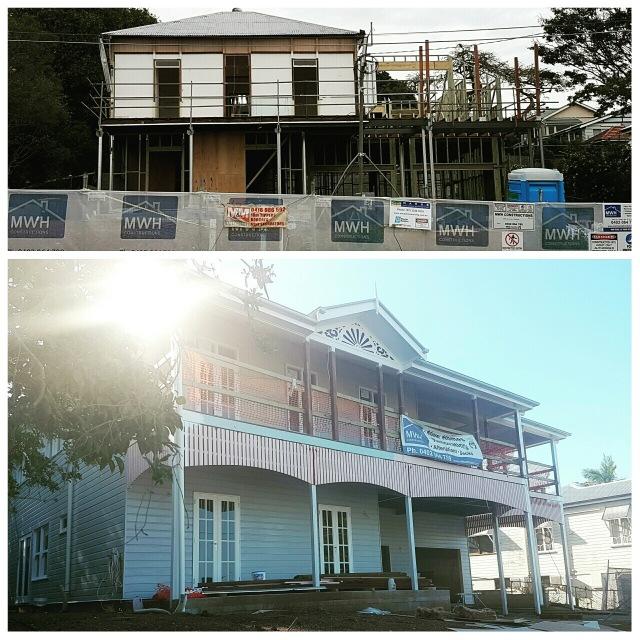Queenslander - 10 weeks ago versus today - what amazing progress!
