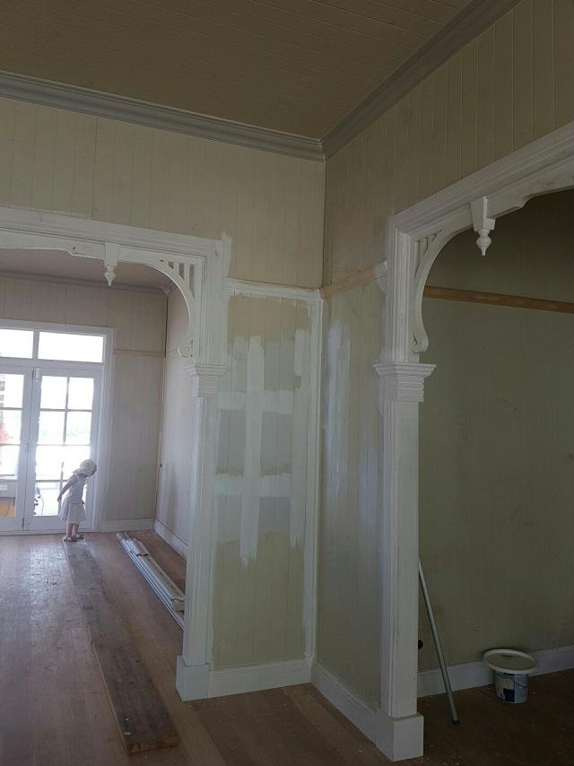 Decorative archways in our Queenslander