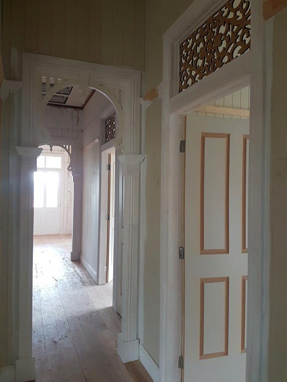 The hallway - looking towards the front door