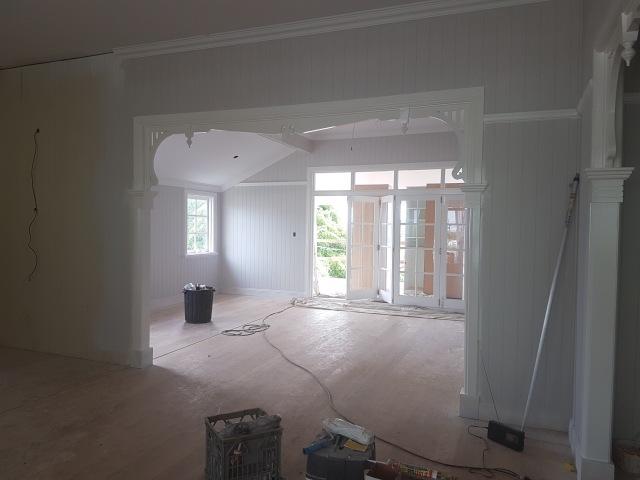 Queenslander living room build